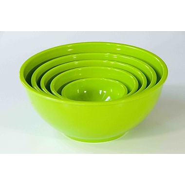 Yumi Eco Solutions Eco Bamboo 5 Piece Stacking Bowl Set; Green