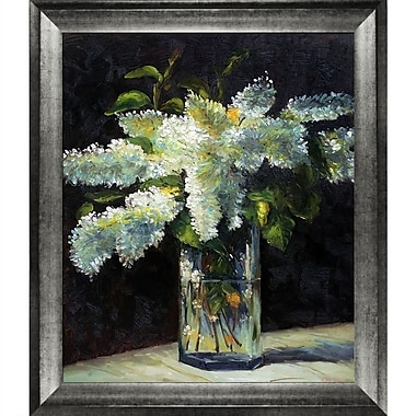 Tori Home Lilacs in a Vase by Edouard Manet Framed Painting Print on Wrapped Canvas
