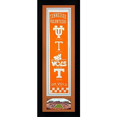 Legends Never Die NCAA Framed Graphic Art; Tennessee Volunteers