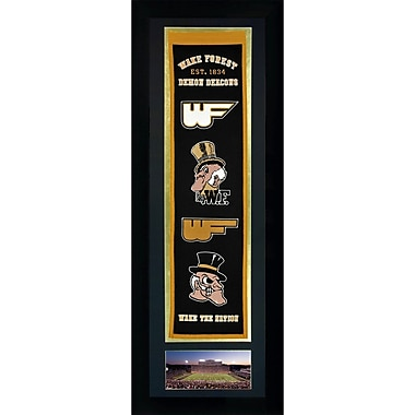 Legends Never Die NCAA Framed Graphic Art; Wake Forest