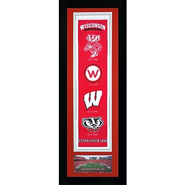 Legends Never Die NCAA Framed Graphic Art; Wisconsin Badgers