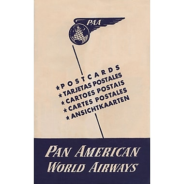 Marmont Hill Postcard Sleeve Pan American Vintage Aviation Graphic Art on Wrapped Canvas