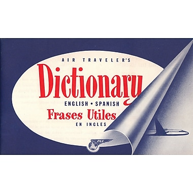 Marmont Hill Dictionary Pan American Vintage Aviation Graphic Art on Wrapped Canvas; 30'' H x 45'' W