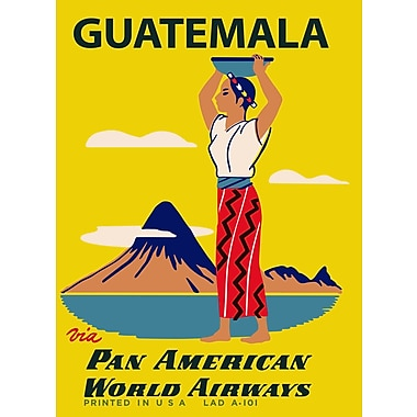 Marmont Hill 'Guatemala Pan American Vintage Aviation' Graphic Art Print on Wrapped Canvas