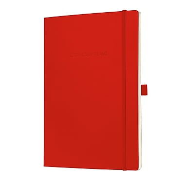 Sigel Softcover Lined Notebook - A4 Extra Large Size with Elastic Closure, Red (SGA4SEL-RD)