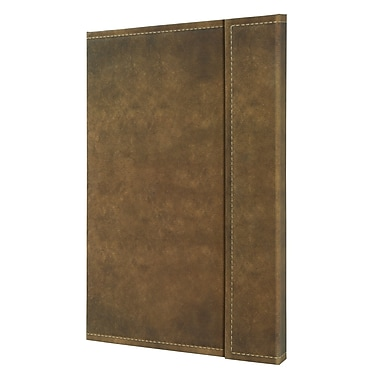 Sigel Vintage Hardcover Graph Notebook - A4 Extra Large Size with Magnetic Closure, Brown (SGA4VMS-BR)