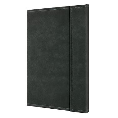 Sigel – Cahier quadrillé A4 rétro à couverture rigide de très grand format, fermeture magnétique, gris foncé (SGA4VMS-DG)