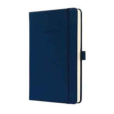 Sigel Hardcover Lined Notebook A5 Journal Size With Elastic Closure, Blue (SGA5HEL-BL)