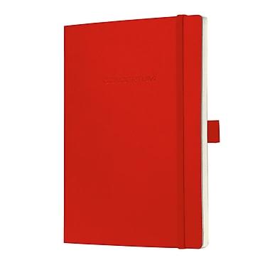 Sigel – Carnet ligné à couverture souple avec fermeture élastique, format journal A5, rouge (SGA5SEL-RD)