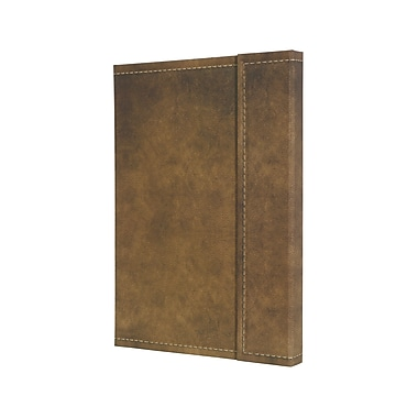 Sigel Vintage Hardcover Graph Notebook A5 Journal Size With Magnetic Closure, Brown (SGA5VMS-BR)