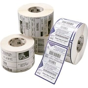 "Zebra 3"" x 1 3/4"" White Semi-Permanent Adhesive Direct Thermal Label"