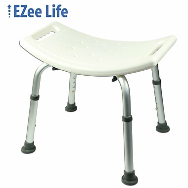 Ezee Life (CH1050TF) Tool Free Shower Chair Without Backrest, Satin Finish