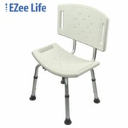 Ezee Life (CH1060TF) Tool Free Shower Chair with Back, White