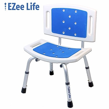 Ezee Life (CH1061) Bath Seat with Back (Padded), Blue