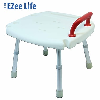 Ezee Life (CH1066) Bath and Shower Chair, Red Handle