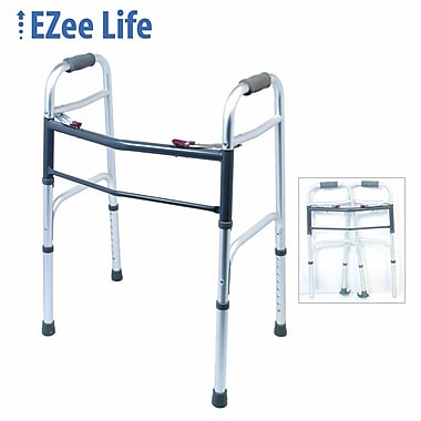 Ezee Life (CH1080) Folding Walker 2 Button, Adult, Foam Handle