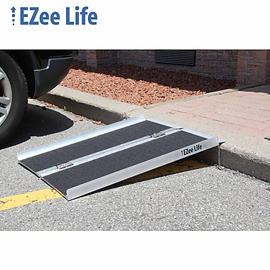Ezee Life (EZ3RGT) 3' Single-Fold Aluminum Ramp, with Grip Tape