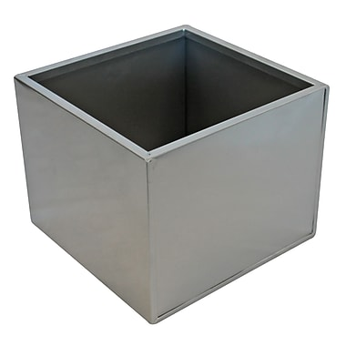 Blooms Steel Planter, Silver