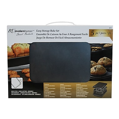 Modern Homes 5-Piece Bakeware Set with Muffin Pan