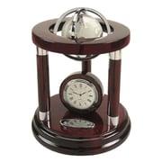 Elegance – Horloge et globe Galaxy de 8 po
