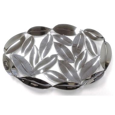 Elegance – Assiette ovale en feuilles en acier inoxydable