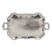 Elegance Silver Plated Footed Princess Tray With Handles