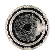 Elegance – Plateau rond en argent de 15 po de la collection Romantica