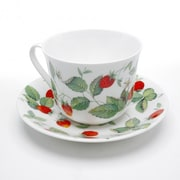 Roy Kirkham Breakfast Cup/Saucer, Alpine Strawberry, Set Of 2