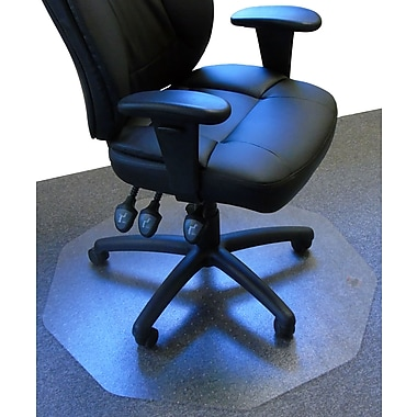 Floortex 9Mat 39''x38'' Polycarbonate Chair Mat for Carpet, Circular (FC111001009R)