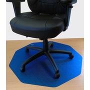Floortex 9Mat 39''x38'' Polycarbonate Chair Mat for Hard Floor, Circular, Cobalt Blue (FC121001009RBL)