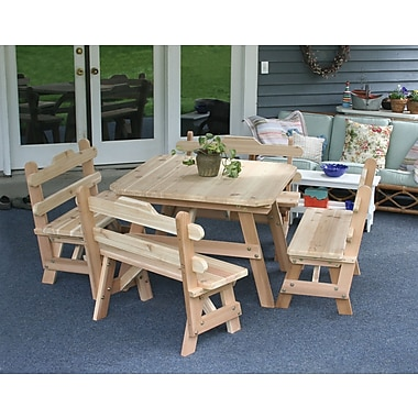Creekvine Designs Cedar Union Dining Set; Cedar Stain/Sealer