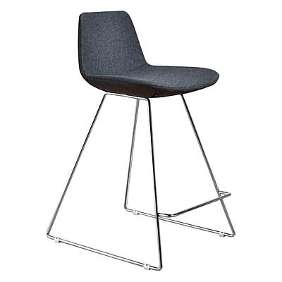 Aeon Furniture Fun, Colorful 23 Bar Stool (Set of 2); White