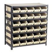Quantum Economy Shelf Storage Units w/ Small Bins; Red