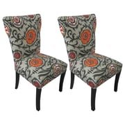 Sole Designs Willard Cotton Wingback Cotton Side Chair (Set of 2)