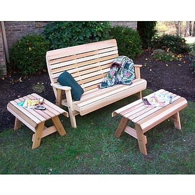 Creekvine Designs Cedar Twin Ponds Bench Set; Cedar Stain/Sealer