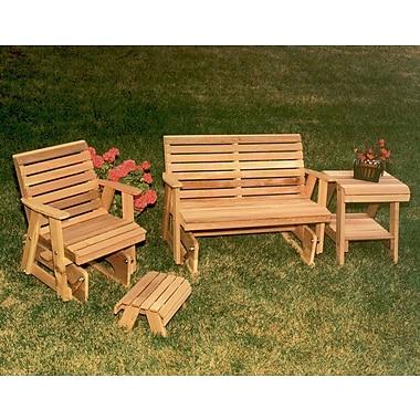 Creekvine Designs Cedar Classic Rocking Glider Furniture Collection; White Stain