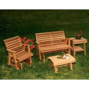 Creekvine Designs Cedar Rocking Classic Gliders and Tables Set; No Finish
