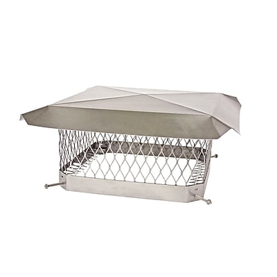 Shelter Stainless Steel Chimney Cap; 7.75'' H