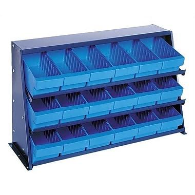 Quantum Bench Pick Rack Storage Systems w/ Various Euro Bins; Blue