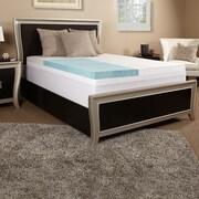 Luxury Solutions 3'' Gel Memory Foam Mattress Topper; Full