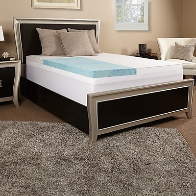Luxury Solutions 3'' Gel Memory Foam Mattress Topper; Full
