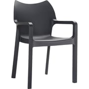 Siesta Exclusive Diva Stacking Chair; Black
