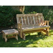 Creekvine Designs Cedar Countryside Rocking Glider and Table Set; Cedar Stain/Sealer