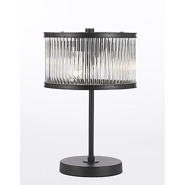 EverythingHome Crystal Rod Iron Essex Contemporary 14'' Table Lamp