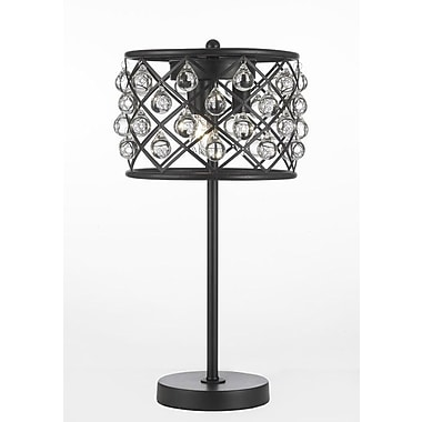 EverythingHome Spencer Crystal Spheres Iron 20'' Table Lamp
