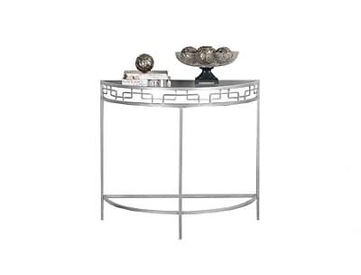 Monarch Specialties Metal Console Table, Silver, Each (I 2110)