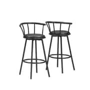 "Monarch Specialties 43""H Swivel Barstool, Black Metal, 2 stools (I 2398)"