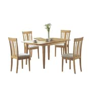 """Monarch Specialties 60""""L x 36""""W x 30""""H Dining Table with Leaf, Maple (I 4267)"""