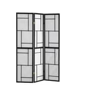 Monarch Specialties 3 Panel Folding screen with Black Frame (I 4627)