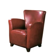 Monarch Specialties Leather-Look Fabric Accent Chair, Red (I 8068)